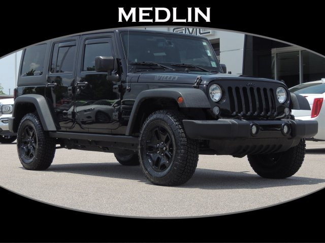 Pre-Owned 2016 Jeep Wrangler Unlimited Willys Wheeler